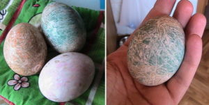 Наматываение никто для покраски яиц